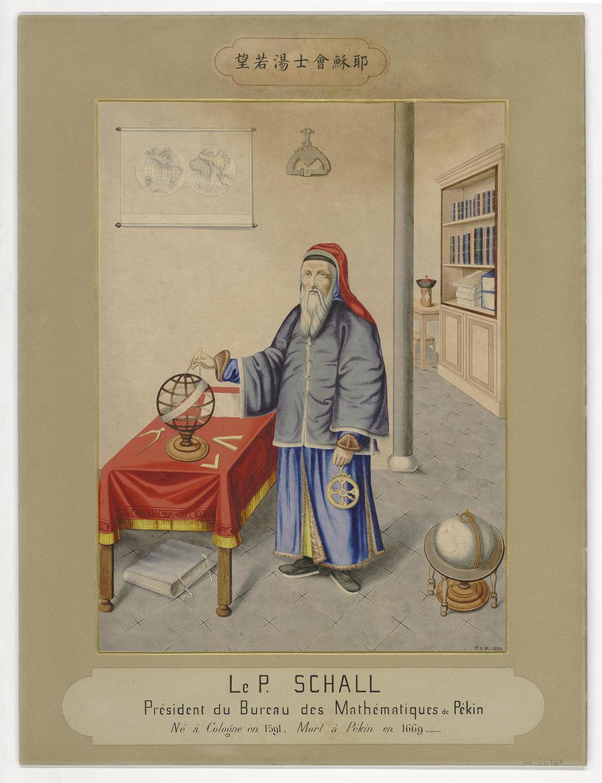 Portrait du Père Johannes-Adam Schall, président du Bureau des mathématiques, Pékin