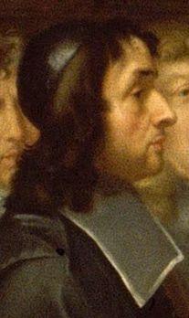 Détail du tableau : Colbert présente à Louis XIV les membres de l'Académie Royale des Sciences créée en 1667