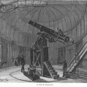 [Equatorial de la tour de l'ouest de l'Observatoire de Paris en 1870]